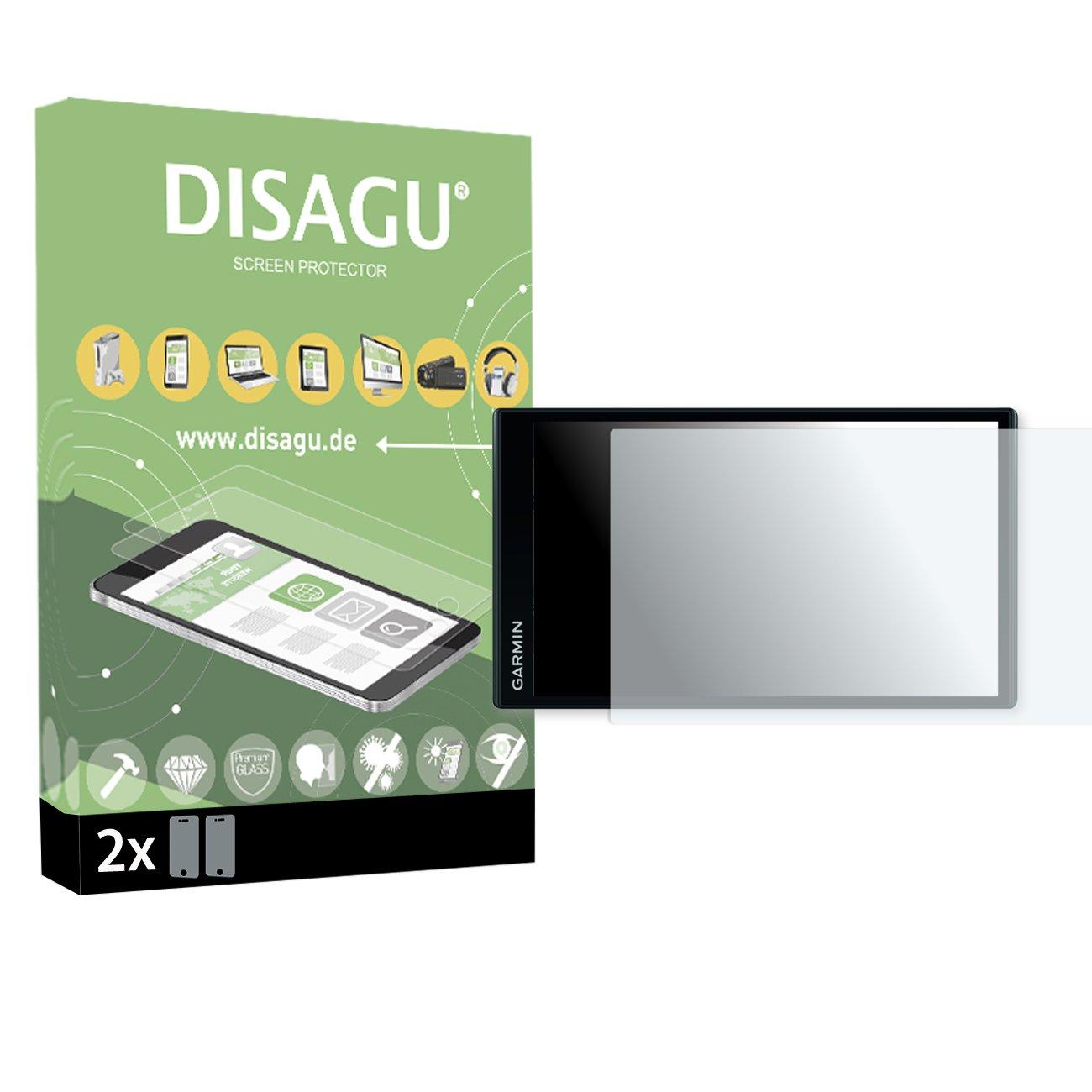 2x DISAGU flexible tempered glass for Garmin DriveSmart 61 LMT armor glass 9H hard glass screen protective film 3D compatible