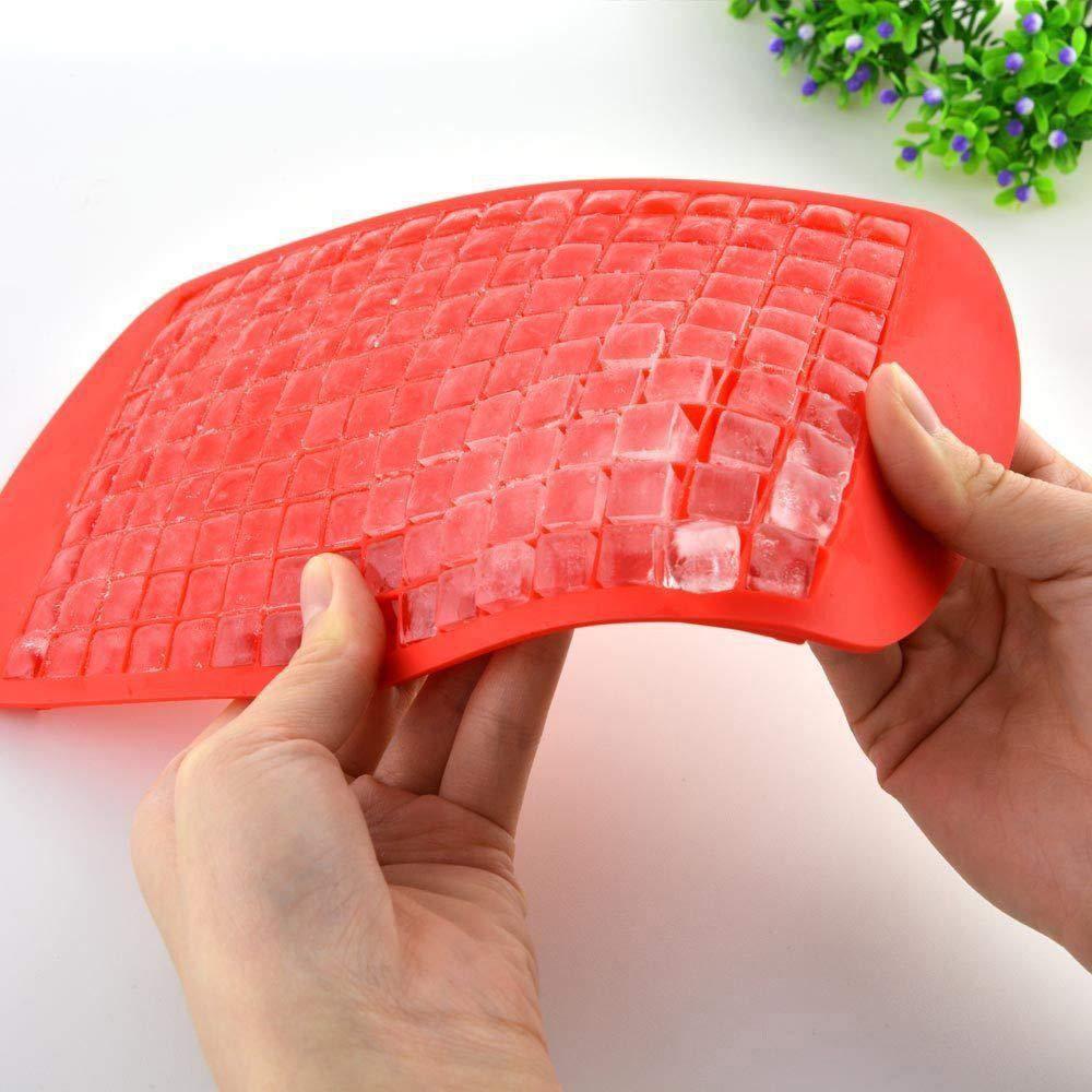 FiedFikt Riutilizzabile e Senza BPA Blue Stampo in Silicone per cubetti di Ghiaccio Quadrato