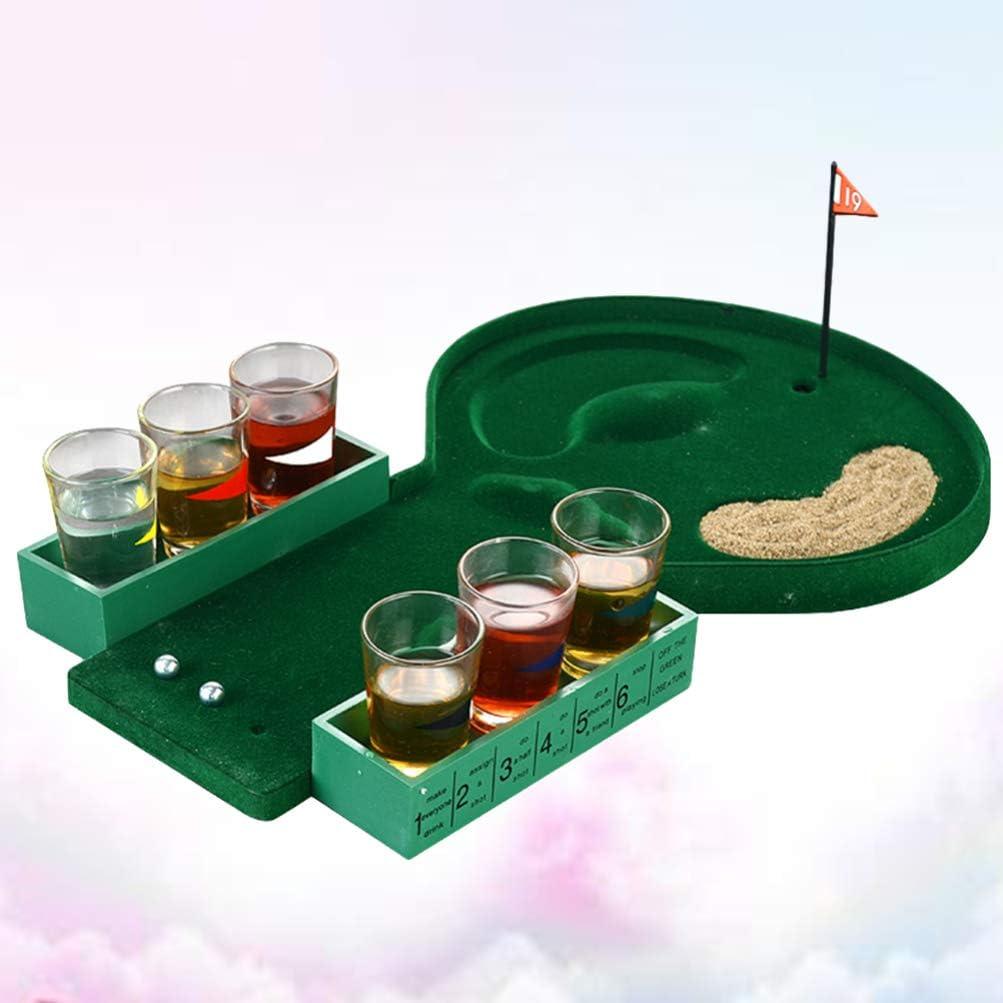 BESPORTBLE Mini Golf Juego de Beber Juego de Vidrio Juego de Fiesta Juegos de Beber para Adultos Bar Ktv Familia Colores Surtidos: Amazon.es: Deportes y aire libre