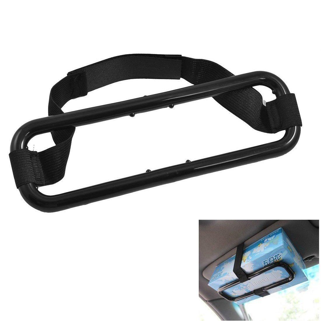 SODIAL(R) Car Sun Visor Tissue Paper Box Holder Auto Seat Back Hold Clip AEQW-WER-AW143252