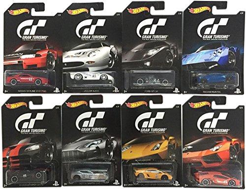 Hot Wheels 2016 Gran Turismo Bundle Set of 8 Die-Cast Vehicl