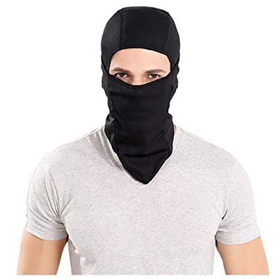 Veodhekai Men and Women Reusable Breathable Filter Safety Protection Full Face Mouth Hood (Black): Clothing