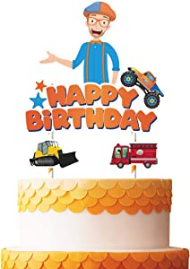 Cake Decorations for Blippi Cake Topper Birthday Party Supplies Cupcake Toppers for Children