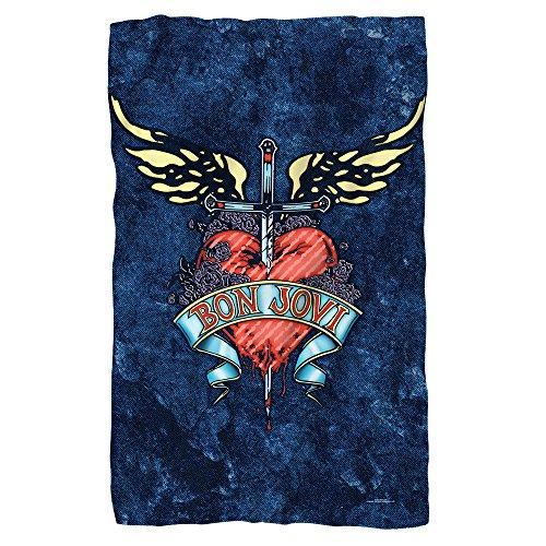 Planet Caravan Bon Jovi Heart Logo 36X58 Fleece Blanket ()