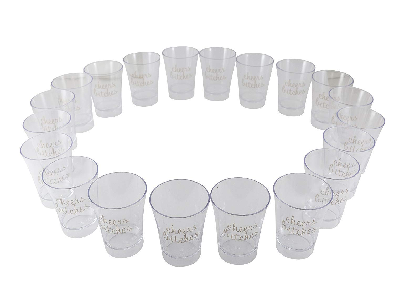 We Party Shot Glasses (40, Clear) by WeParty