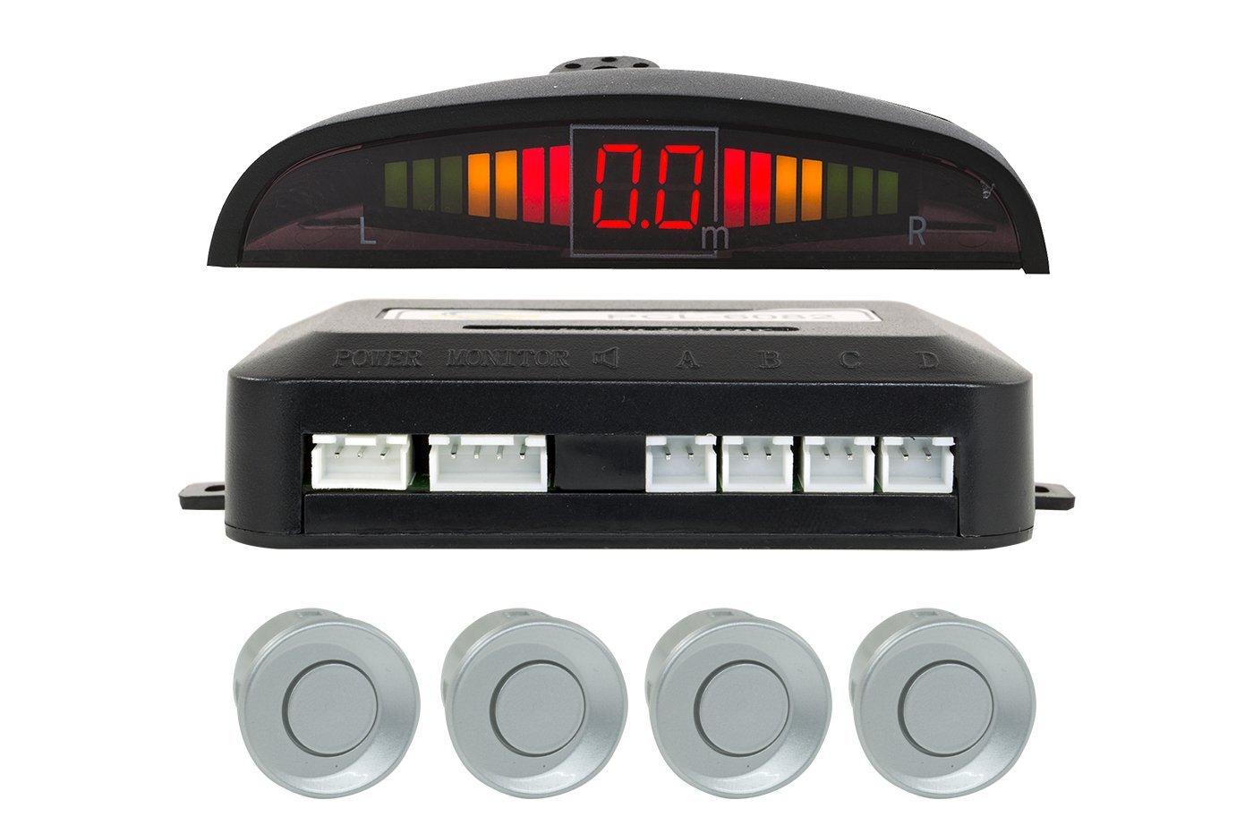 Tempo di Saldi/® Kit 4/capteurs de stationnement pour voiture avec /écran sonore LED sonore /à peindre