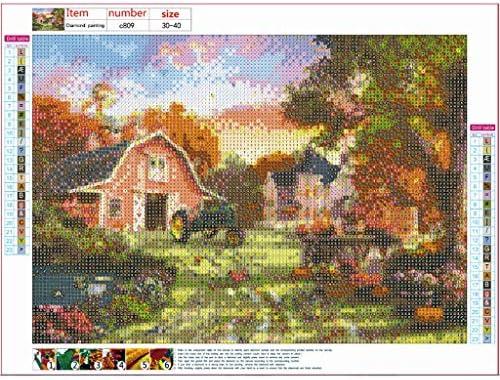 5D Diamond Animal Scenery Embroidery Rhinestone Cross Stitch Painting Home Decor