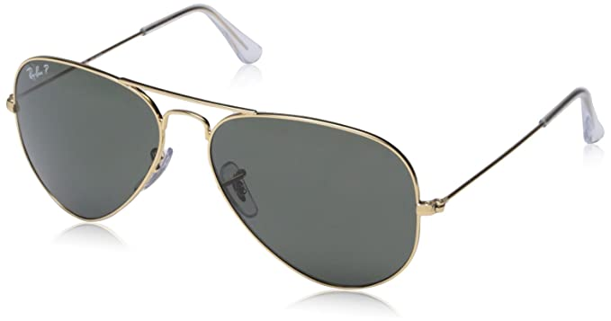 Ray-Ban RB3025 Aviator Large Metal Sunglasses 58 mm, Polarized, Arista Gold  beb55ce43c