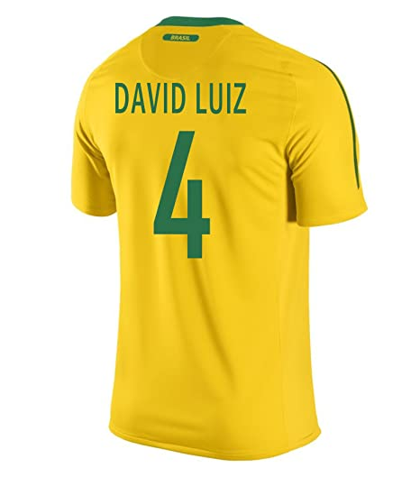b3a7e2d430 Amazon.com  David Luiz  4 Brazil Home Men Jersey  Books