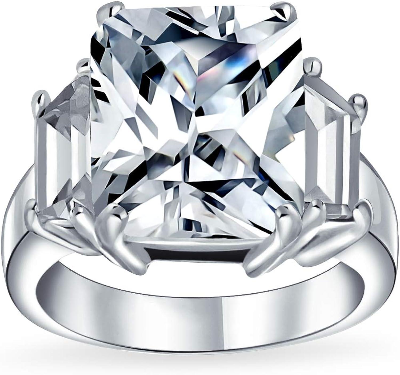 Bling Jewelry Kim Kardahian Plata Esterlina Estilo CZ Anillo de Compromiso