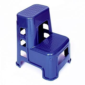 YXX- Escalera de heces de plástico de 2 Pasos para Adultos y Niños Utilidad de