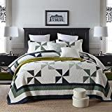 Quilt Set King, Cotton World Li Premium 3 Piece Oversized Coverlet Set as Bedspread Bed Cover Reversible Elegant Luxury Comfortable LightWeight - Wrinkle & Fade Resistant-King/California King