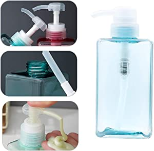 Seonlinta 15 OZ Lotion Soap Dispenser for Bathroom, Kitchen, Hand Soap, Dish Soap (Blue)