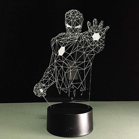 Générique Veilleuse 3D LED Corps Humain Lampe 3D Illusion