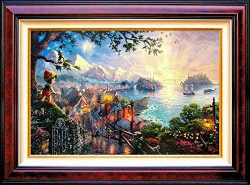 Pinocchio Wishes Upon a Star (Disney Dreams Ii) Thomas Kinkade Framed 12x16 Classic Canvas - Thomas Kinkade Lithograph