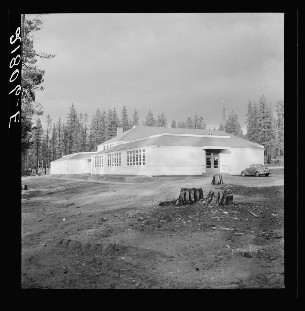 School in model company lumber town. Gilchrist, Oregon. See general caption 76