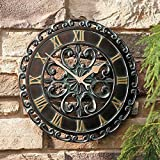 14' Medallion Outdoor Clock Wall Hanging Outside Patio Porch Wall Decor