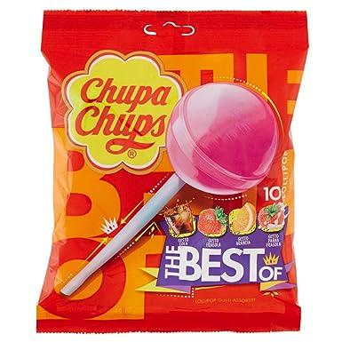 Chupa Chups - Lollipops - Caramelos, 6 paquetes de 10 piruletas