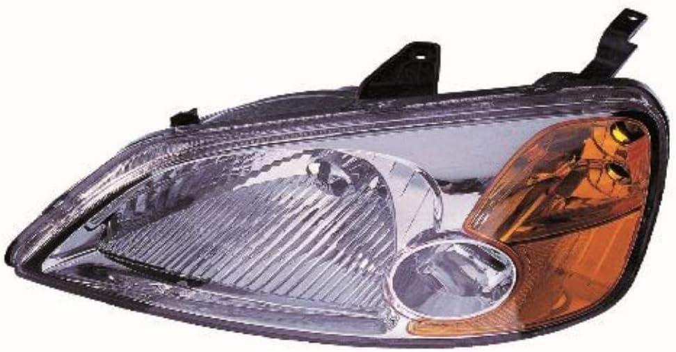 Halogen Scheinwerfer Set links /& rechts Hauptscheinwerfer Frontscheinwerfer H4 mit Elektromotor ohne Lampentr/äger f/ür Model Civic VII Hatchback EU EP EV EM2 ES