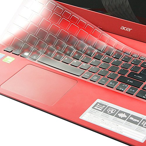 Folox Keyboard Cover Clear Protector Skin for Acer 15.6