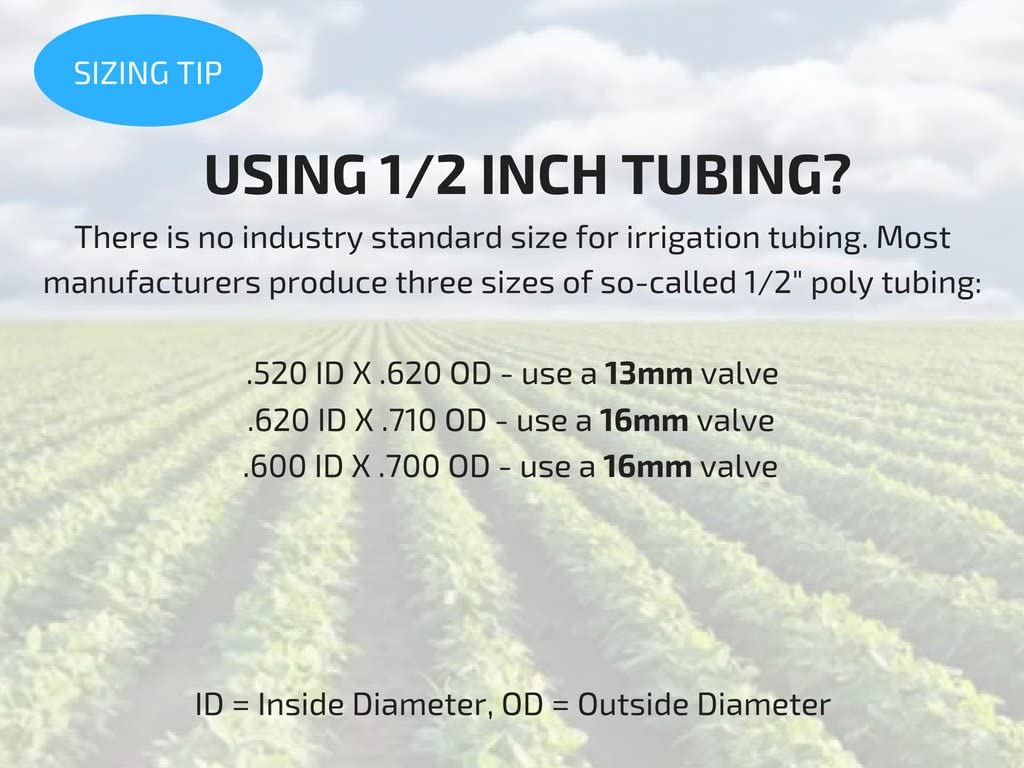 2-Pack in-Line Barbed Ball Valve 13mm for 1//2 Inch Tubing .520 ID Regulate and Shut-Off//On Water Flow