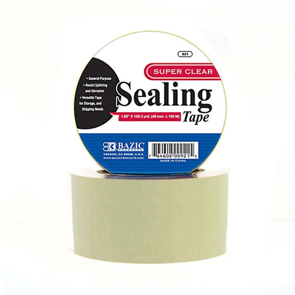 BAZIC 1.88'' X 109.3 Yards Clear Packing Tape, Case Pack of 36