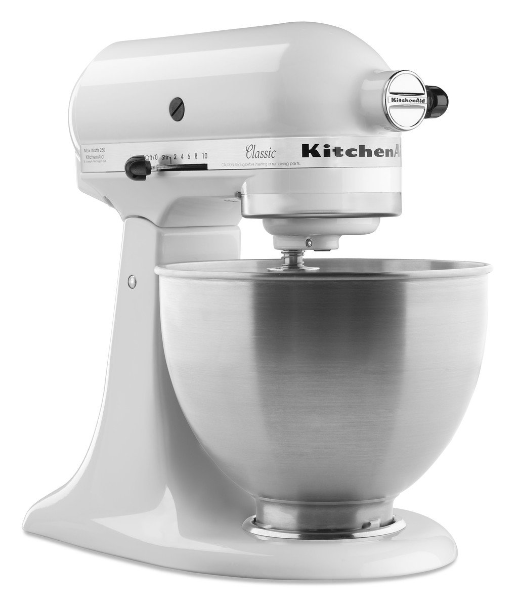 KitchenAid K45SS - Batidora amasadora, 300 W, color blanco: Amazon.es: Hogar