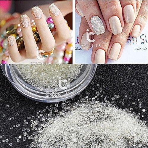 1caja Nail Art 3d decoración claro Caviar perlas de cristal DIY con purpurina Manicura Consejos Ever.Grace