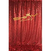 DUOBAO 7FTX6FT-Red-SEQUIN PHOTO BACKDROP, Wedding Photo Booth,Photography Background FOR Christmas