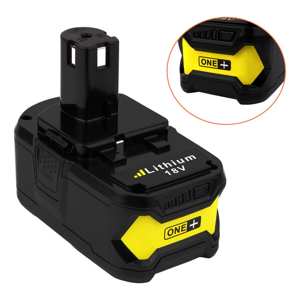 18V 6.0ah Lithium Ion Battery for Ryobi ONE+ P104 P105 P102 P103 P107 P108 P507 BPL-1815 BPL-1820G BPL18151 BPL1820 Cordless Power Tools (2-Pack) by VANON (Image #2)