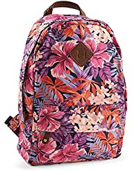 Aeropostale Womens Hibiscus Floral Backpack