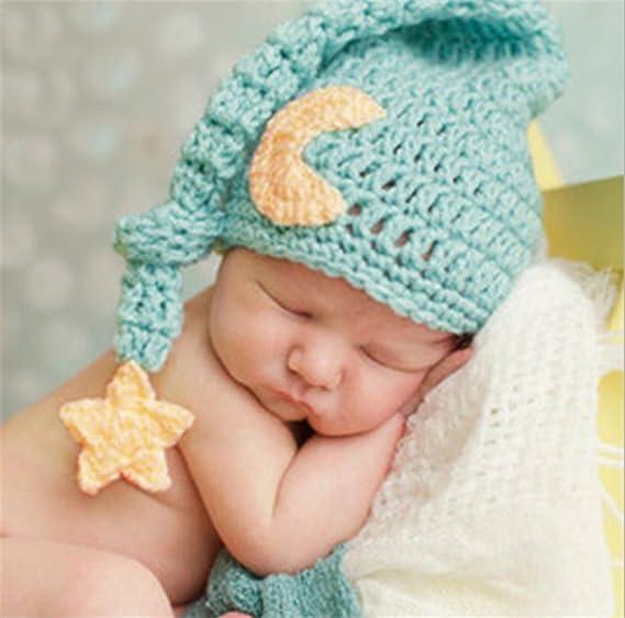 Amazoncom Ximkee Cute Newborn Baby Girl Baby Crochet Hat Photo