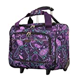 Ricardo Beverly Hills Mar Vista 16-Inch 2 Wheeled Tote, Purple Paisley, One Size For Sale