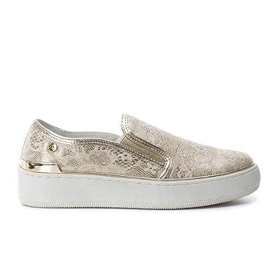 Zapato DE Mujer XTI Plano Slip-ON Plata: Amazon.es: Zapatos y complementos