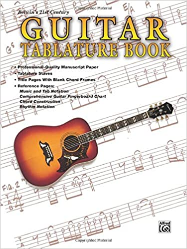 Guitar: Tablature Book-Manuscript Paper-Perforated pages: Amazon ...