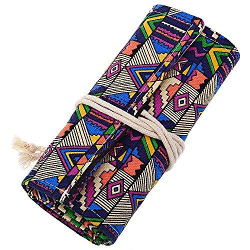 SZYT Creativo Nacional Viento Brillante lápiz de Color lápiz sacapuntas Caja de lápiz 72 Ranuras