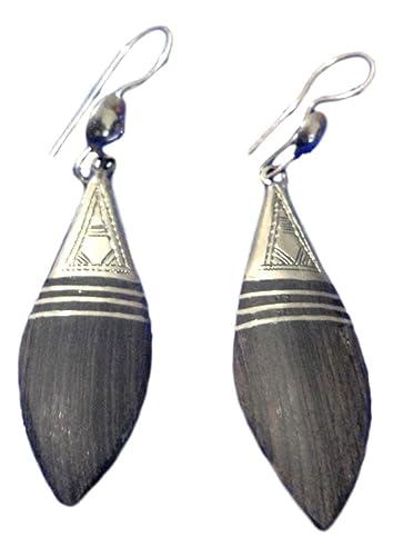 99468d20f Amazon.com: Handcrafted African Tuareg Berber Earrings Ethnic Tribal ...