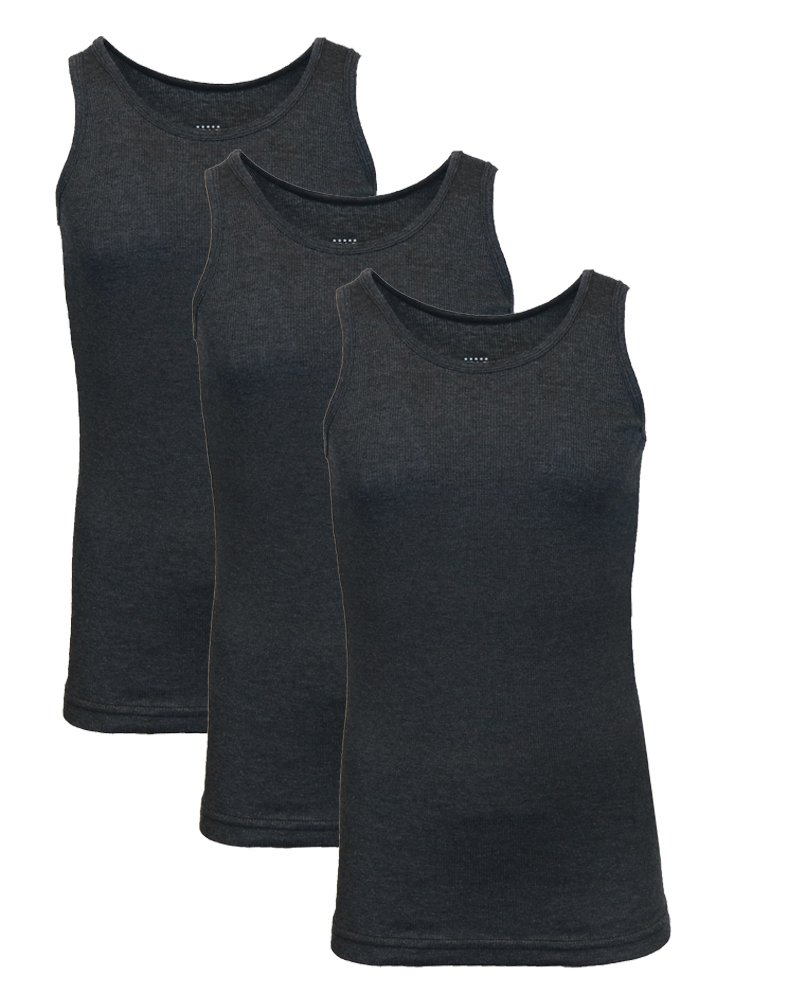 Galaxy by Harvic Single and 3-Pack Mens Heavy-Weight Ribbed Tank Tops MTT-1000