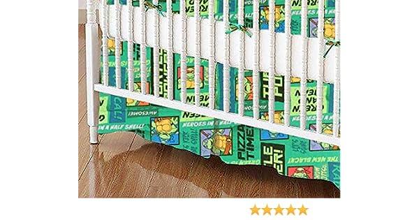 SheetWorld - Crib Skirt (28 x 52) - Ninja Turtles Pizza Time - Made in USA