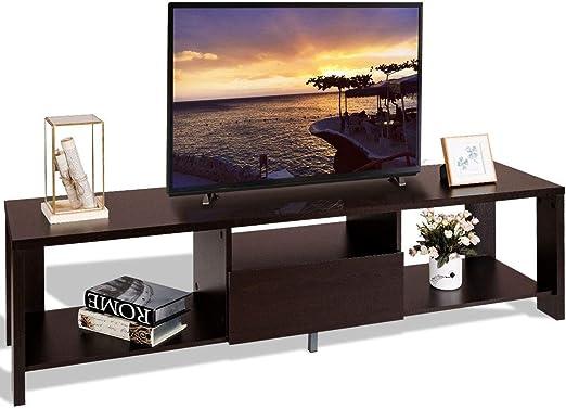 MRT SUPPLY - Mueble para televisor con cajón y Soporte para Consola de Entretenimiento con Libro electrónico: Amazon.es: Jardín