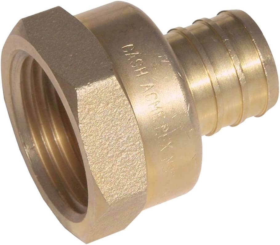 SharkBite Lead-Free Insert 3//4 In Barb x 3//4 In Barb Brass PEX Coupling