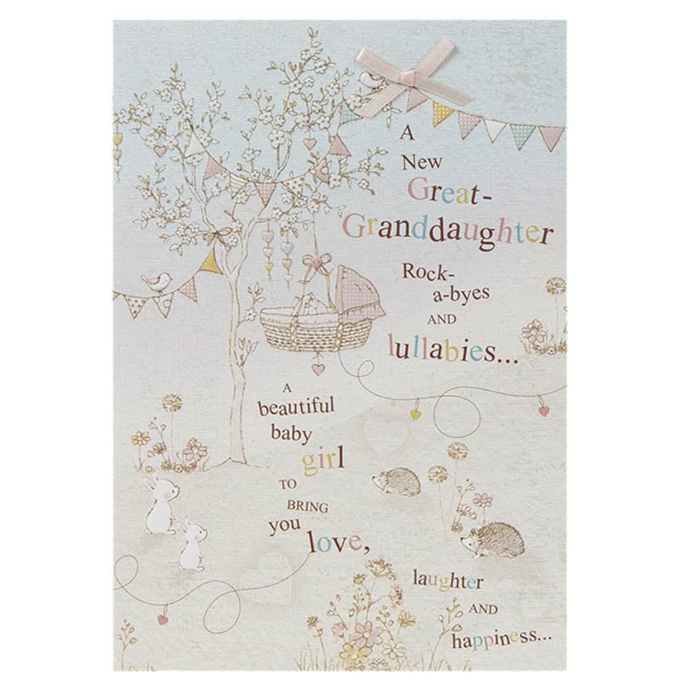Hallmark New Baby Card For Great Grandparents 'A New Great Grandson' - Medium 11225723