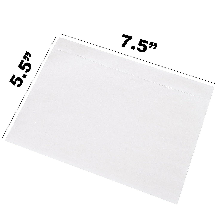 Sales4less Emballage Liste enveloppes 19,1x 14cm Pochettes clair clos adhésif Lot de 200sacs 1x 14cm Pochettes clair clos adhésif Lot de 200sacs PLC755-199