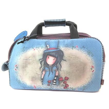 Bolsa de viaje gorjuss santoro azul violeta - 45x27x23 cm ...