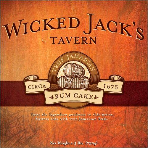 Wicked Jacks Jamaican Butter Rum Cake, Original Golden, 4-oz, Vacuum (Golden Rum)