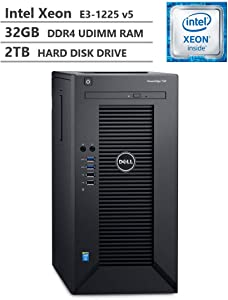 2019 Newest Dell PowerEdge T30 Premium Business Tower Server Desktop, Intel Xeon E3-1225 v5 up to 3.70GHz, 32GB DDR4 ECC UDIMM Memory, 2TB 7200RPM HDD, HDMI, DisplayPort, DVD-RW, No Operating System