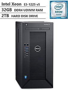 2019 Newest Dell PowerEdge T30 Premium Business Tower Server Desktop, Intel Xeon E3-1225 v5 up to 3.70GHz, 32GB DDR4 ECC UDIMM Memory, 2TB 7200RPM HDD, HDMI, DisplayPort, DVD-RW, No Operating System