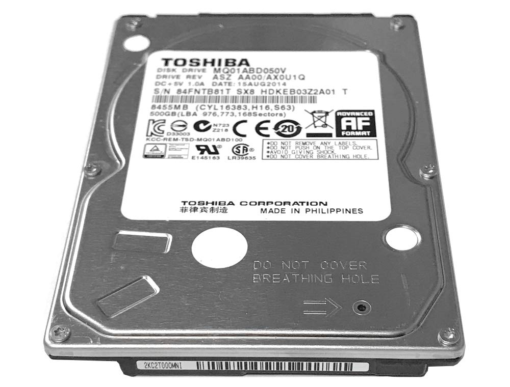 1 Year Warranty MQ01ABD050V Toshiba 500GB 5400RPM 8MB Cache SATA 3.0Gb//s 2.5 inch Notebook Hard Drive