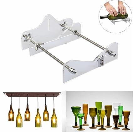 Dispositivo para colgar botellas de cristal, para bricolaje en vidrio o de reciclaje