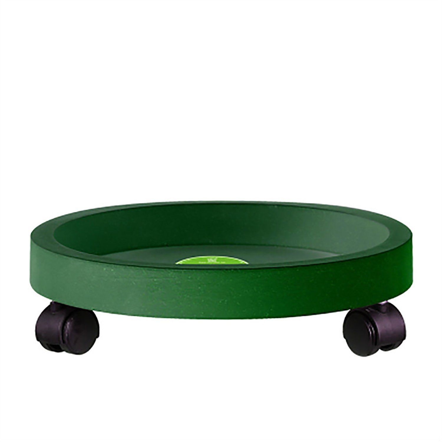 erozy 13-Inch Plastic Heavy Duty Plant Saucer Caddy Plant Dolly, Green